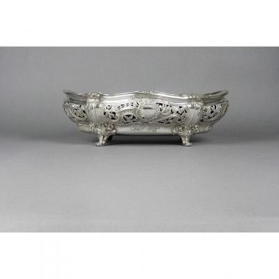 Planter In Sterling Silver Louis XV Style.