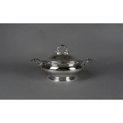Vegetable Dish In Sterling Silver - Copin-lefèvre In Paris.