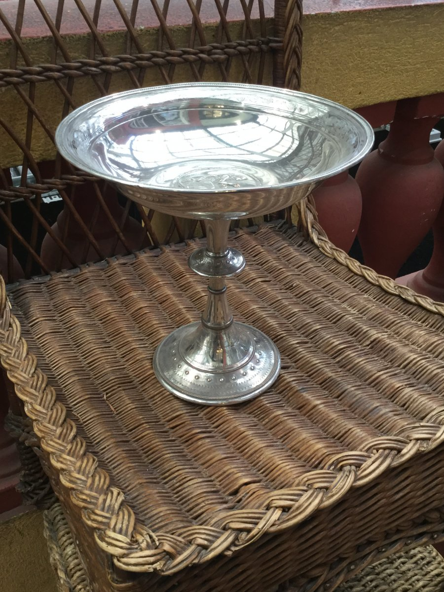 Art Deco Silver Metal Centerpiece Cup