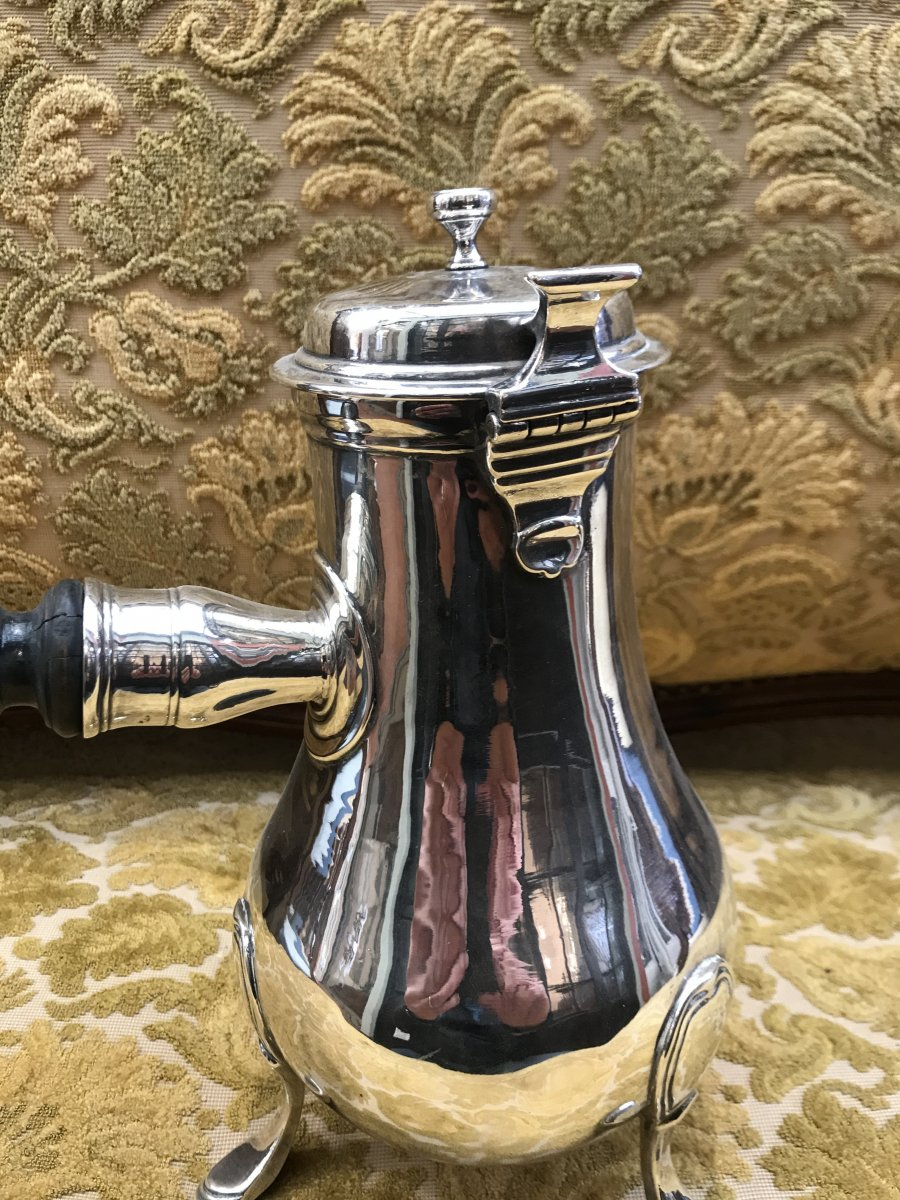 18th Century Metal Plated Coffee Maker-photo-2