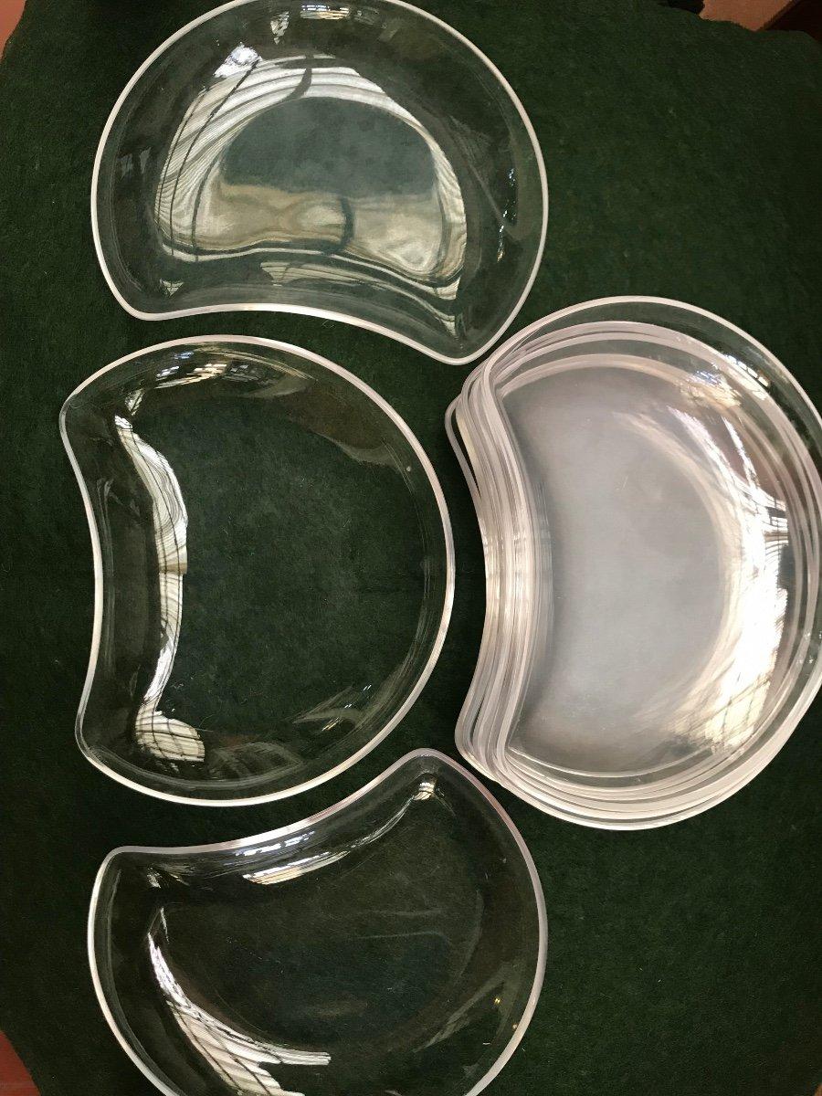 Assiettes En Cristal Lalique Modèle Antibes -photo-1