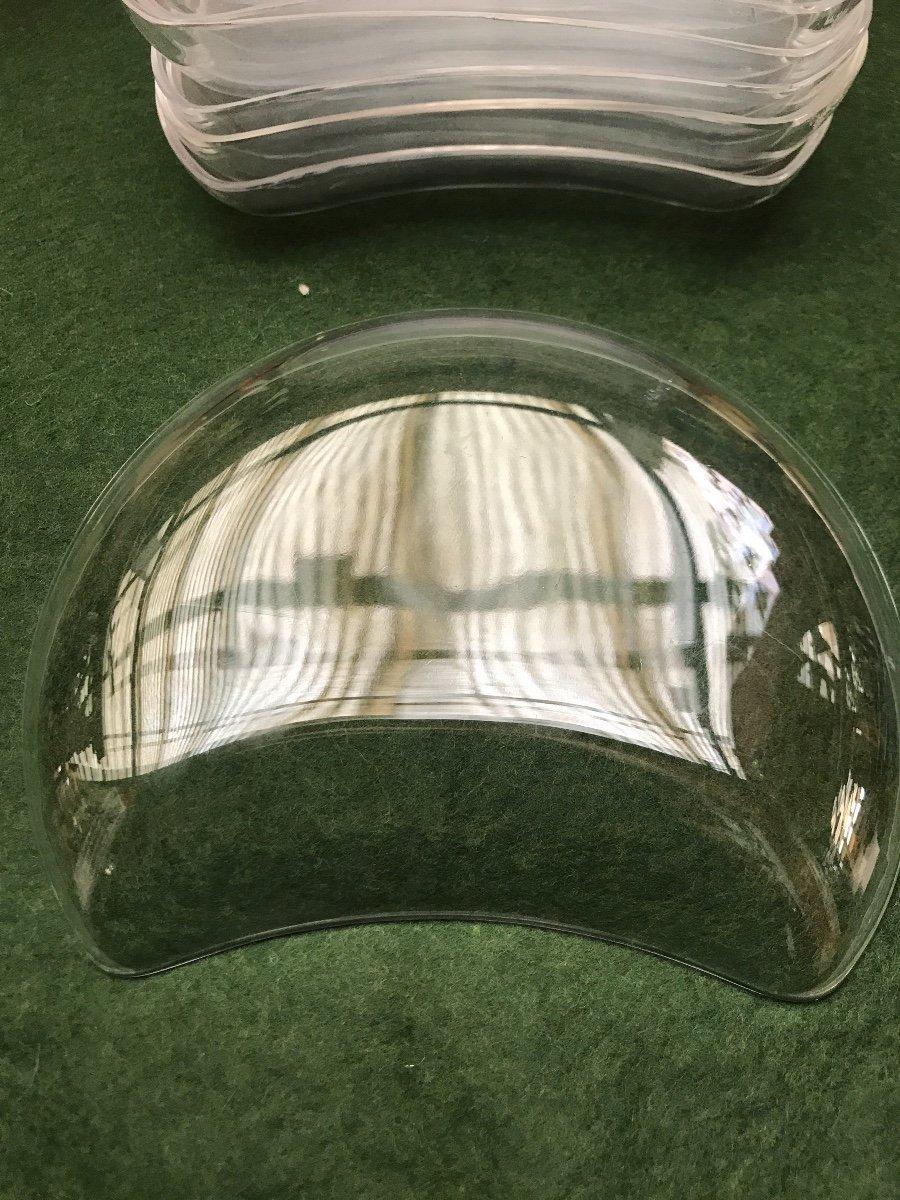 Assiettes En Cristal Lalique Modèle Antibes -photo-5