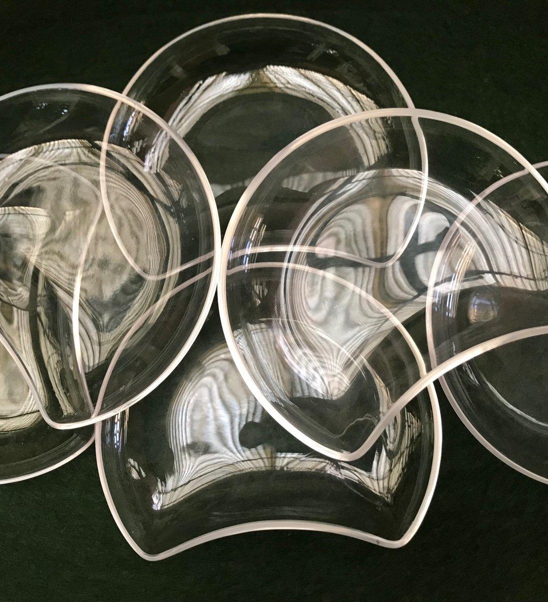 Assiettes En Cristal Lalique Modèle Antibes