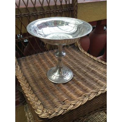 Art Deco Silver Metal Centerpiece Cup