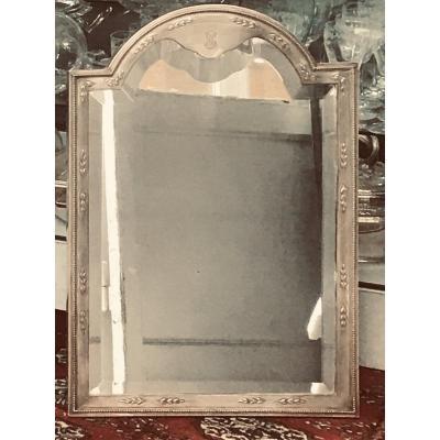 Miroir De Toilette Argent Massif Minerve