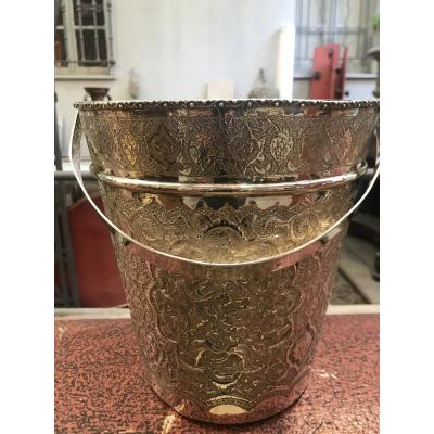 Silver Metal Bottle Bucket