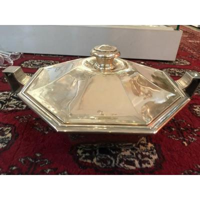 Art Deco Silver Vegetable Dish