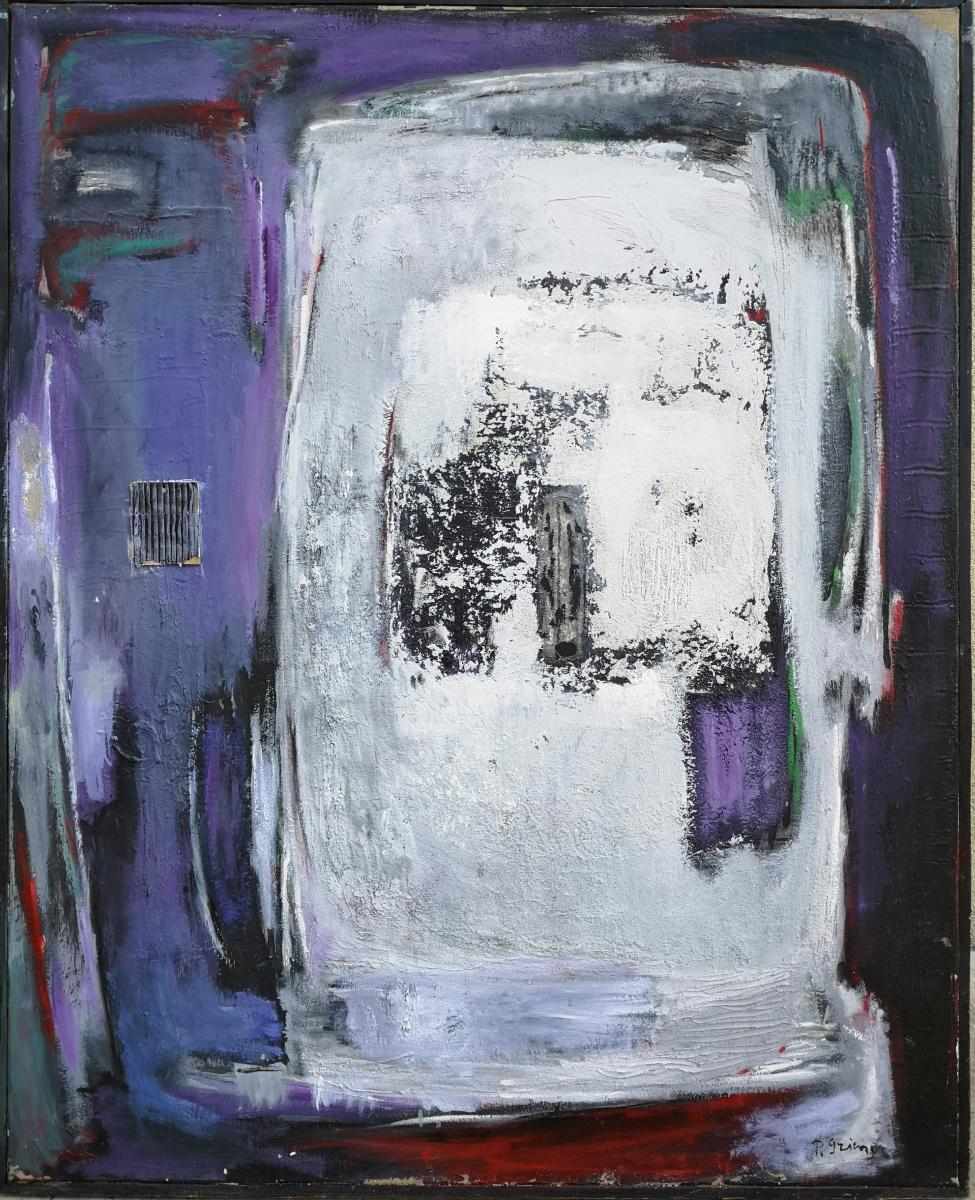 Pierre Grimm (ekaterinoslav1898-paris1979) Russe. Abstraction, Huile Sur Toile: 100x80cm