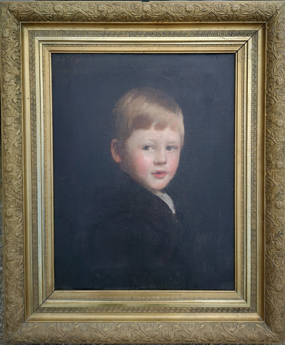 Frank Thomas Copnall 1870–1949 British, English Portrait Of Young Boy Signie Date 1903