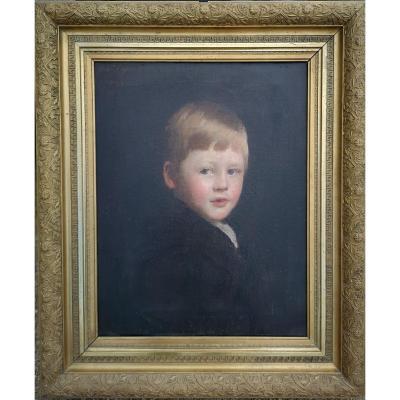 Frank Thomas Copnall   1870–1949  British, English Portrait De Jeune Garçon signie  date 1903