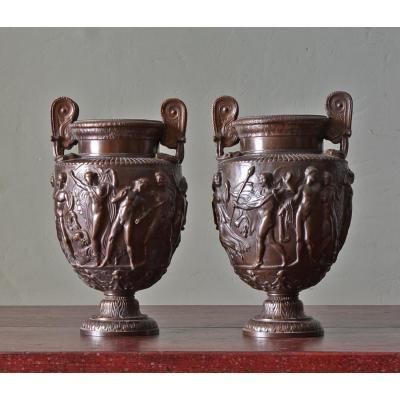 Paire De Vases Townley En Bronze