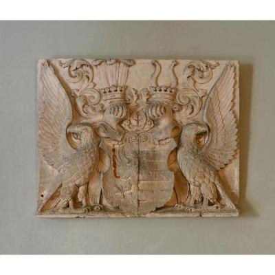 Armoiries Bas Relief Plâtre