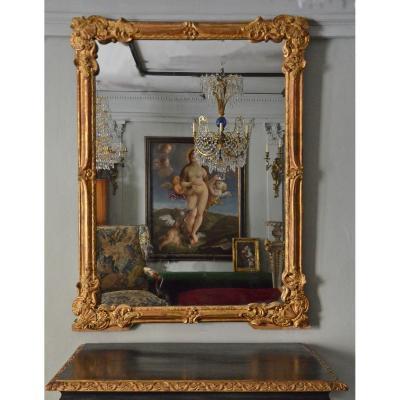 Grand Miroir De Boiserie
