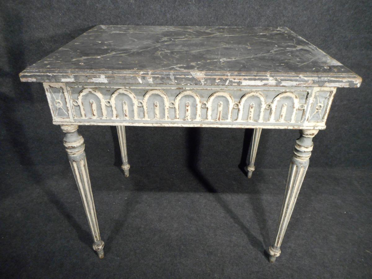 Table ou bureau louis xvi époque xixème sculpté patine dorigine