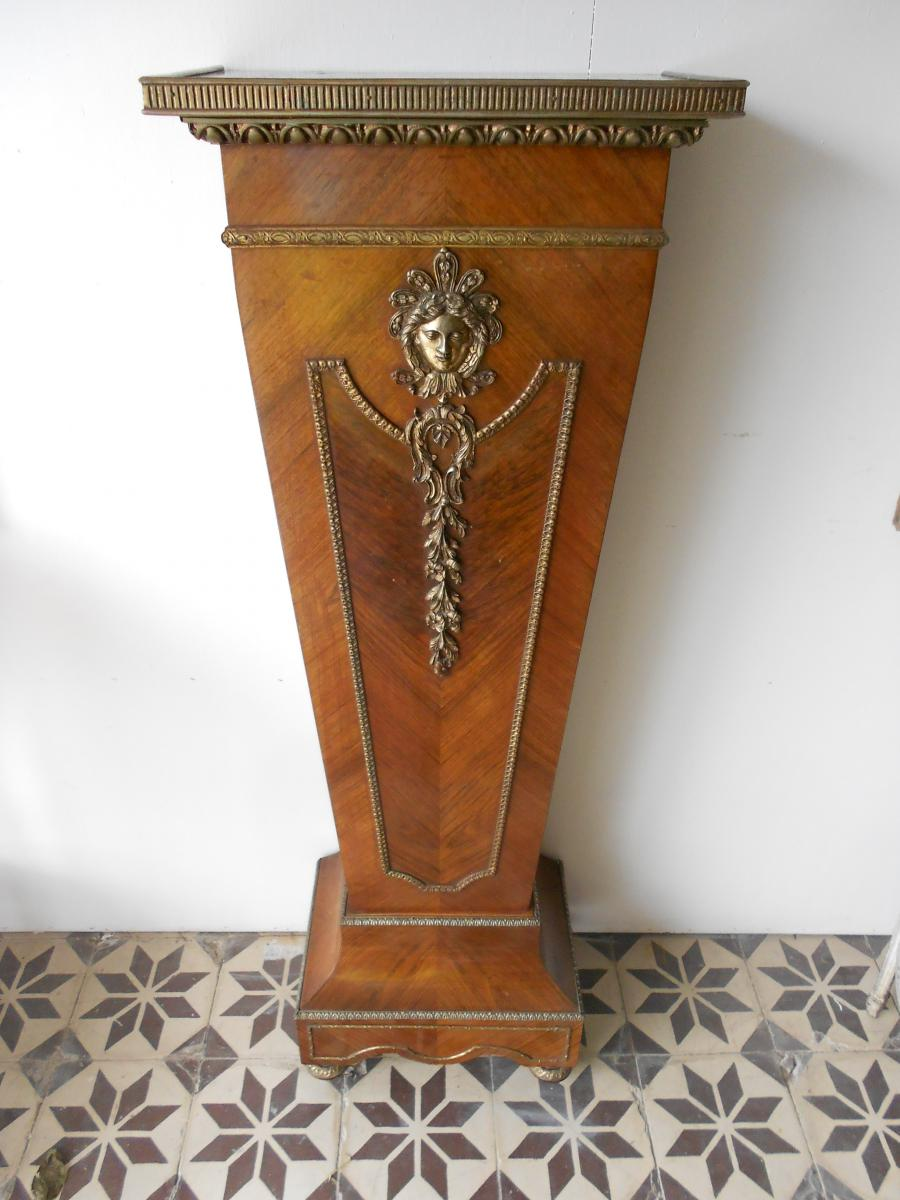 Gaine En Marqueterie Et Bronze Doré époque Napoléon III