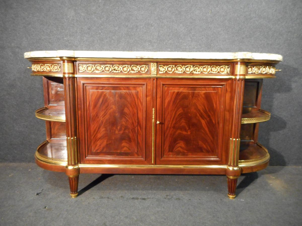 19th Century Period In Cuba Mahogany And Golden Bronze