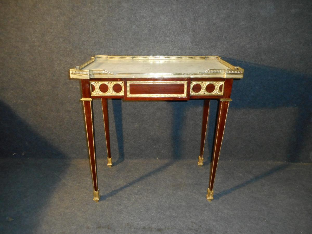 XIXth Century Table In Mahogany And Gold Bronze