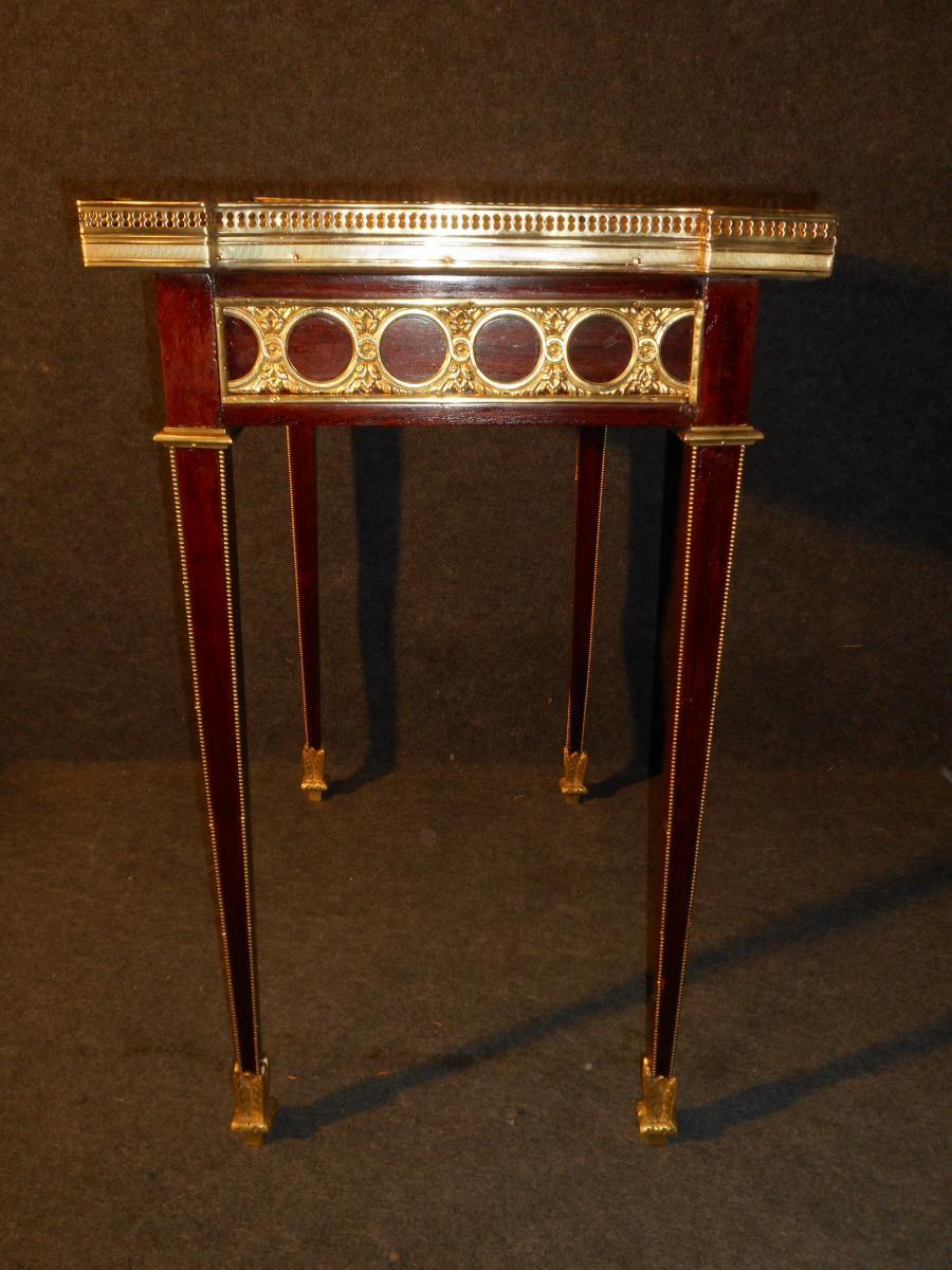 XIXth Century Table In Mahogany And Gold Bronze-photo-4