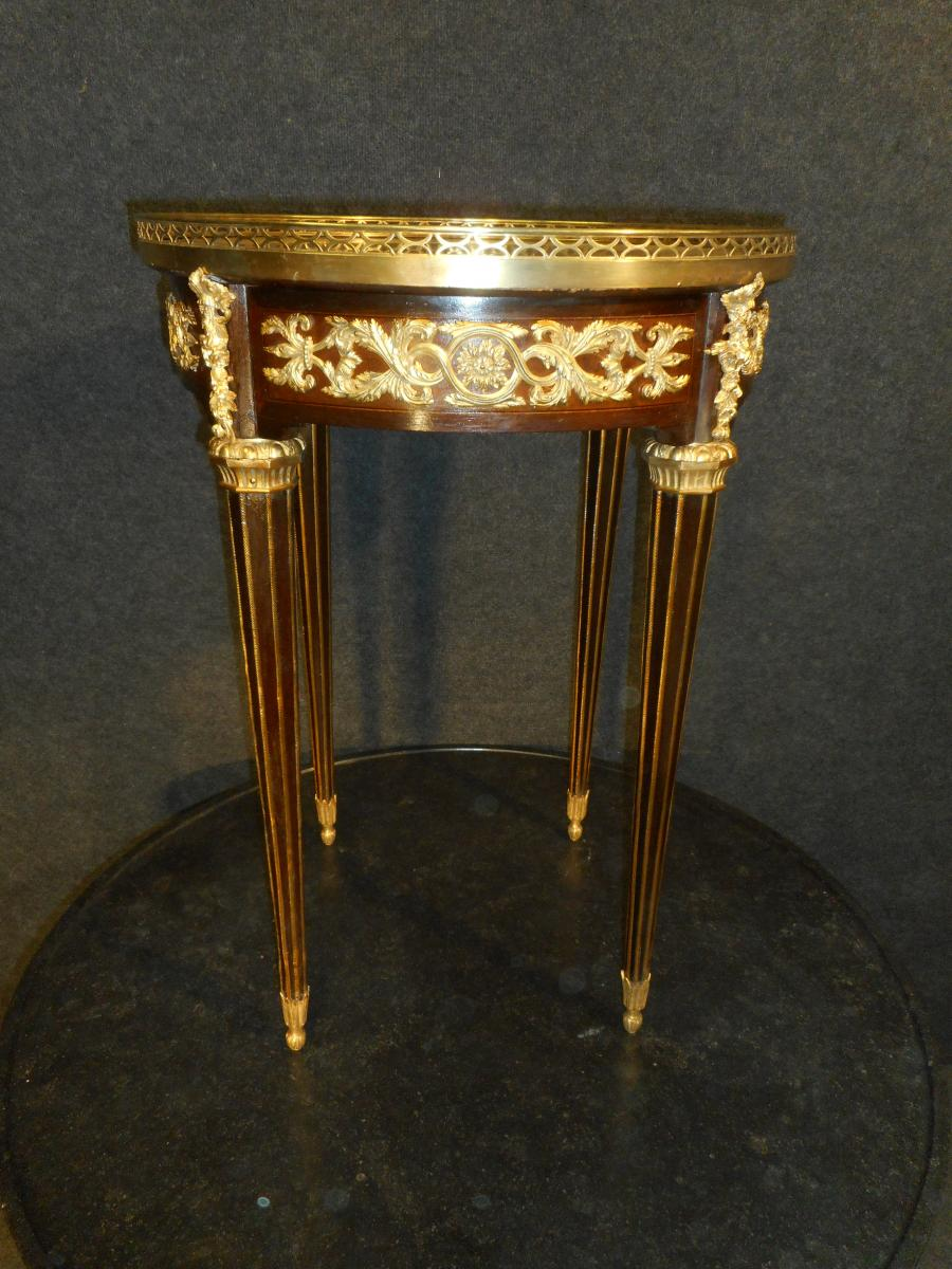 Pedestal In Rosewood And Gilt Bronze End Nineteenth Time Stamped Mercier Brothers