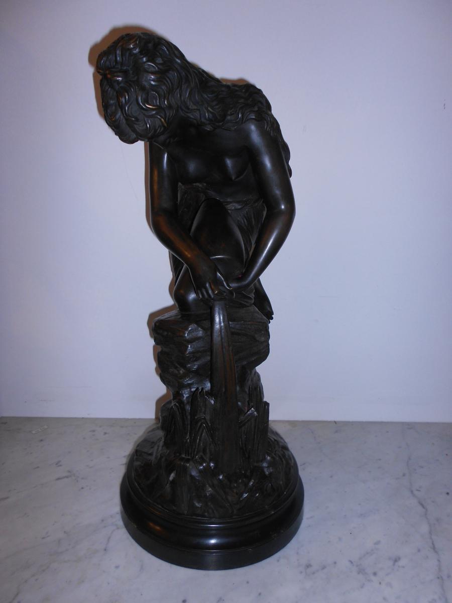"Grand Bronze Intitulé ""la Source"" Signé Antonio Giovanni Lanzirotti"