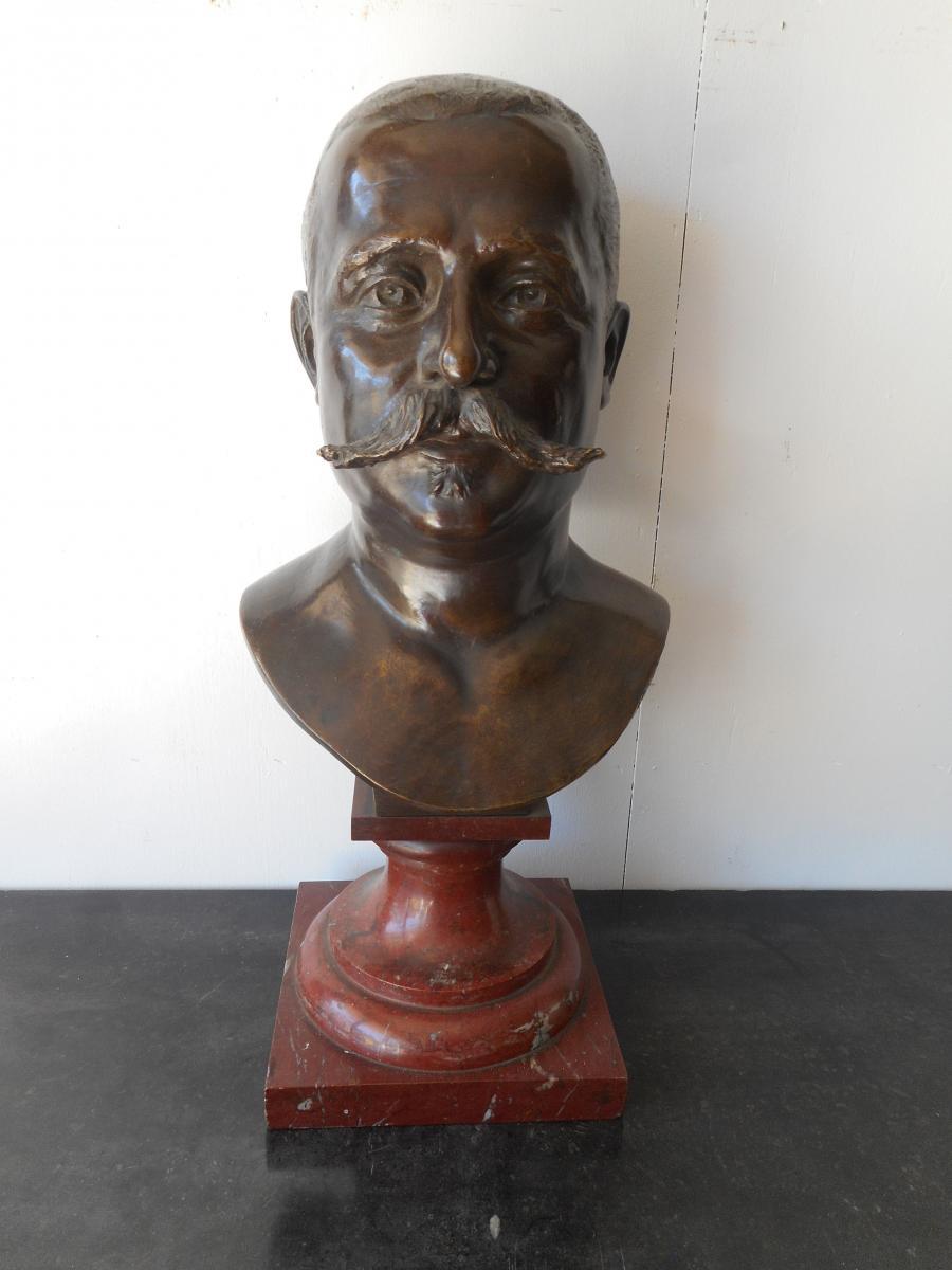 Grand Buste En Bronze Signé Julien Prosper Legastelois