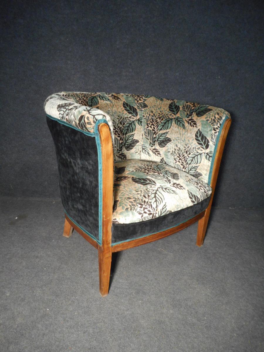 Retapisser Un Fauteuil Prix paire de fauteuil tonneau en marqueterie époque art deco