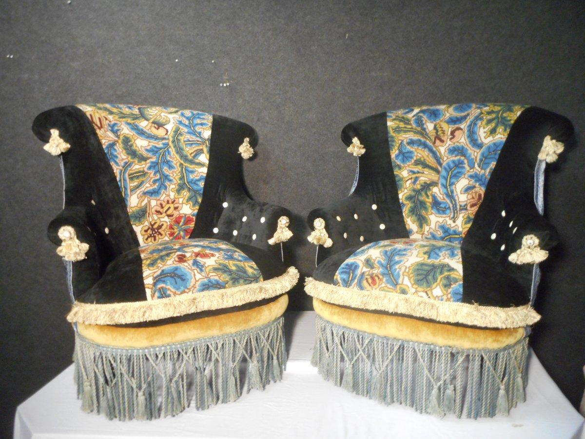 Pair Of Armchairs Napoleon III