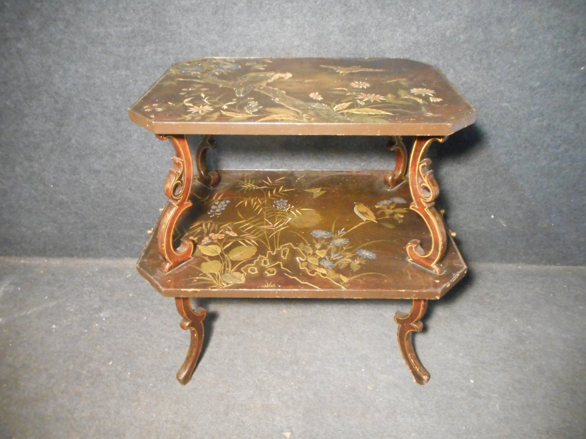 Table A Thé époque XIXe Laqué De Auguste Majorelle