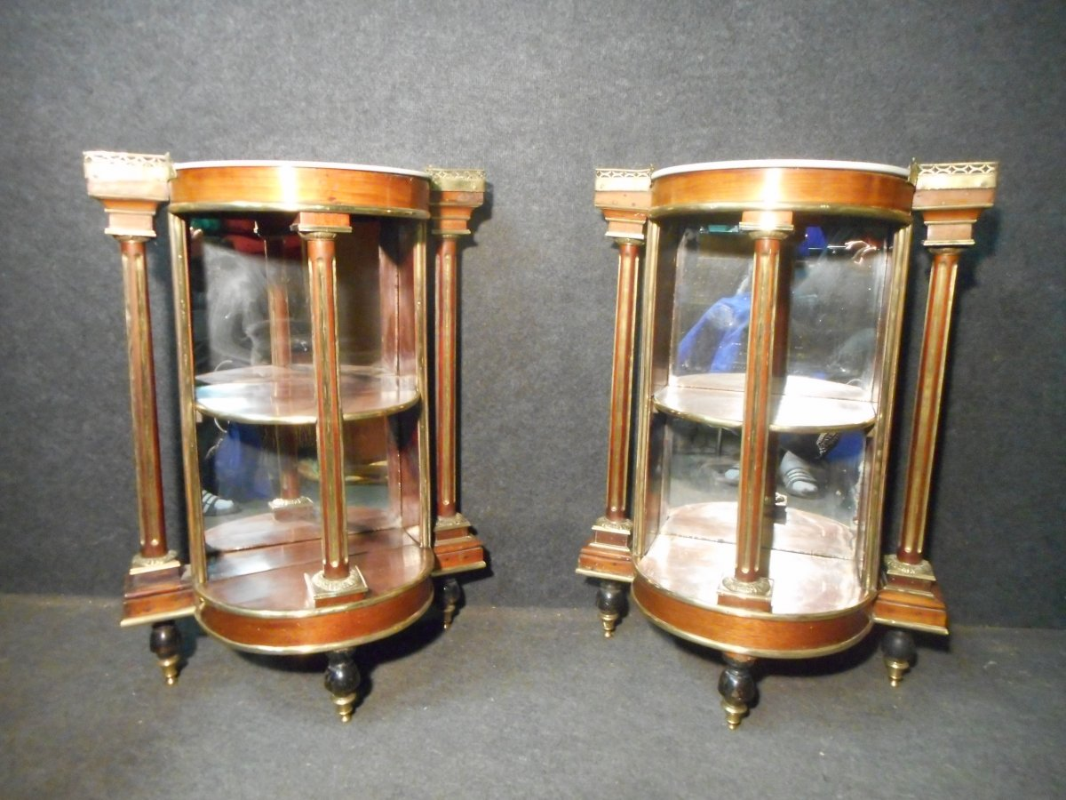 Pair Of Console Louis XVI Period Mahogany And Gilt Bronze Attributed To Jacob