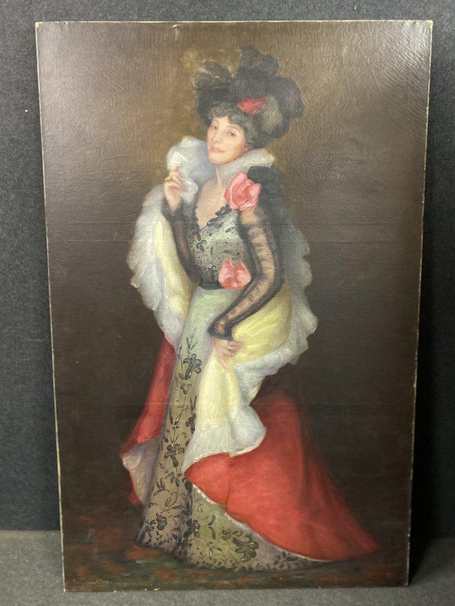 Large Oil On Canvas Impressionist By Auguste Joseph Bracquemond (1833-1914)
