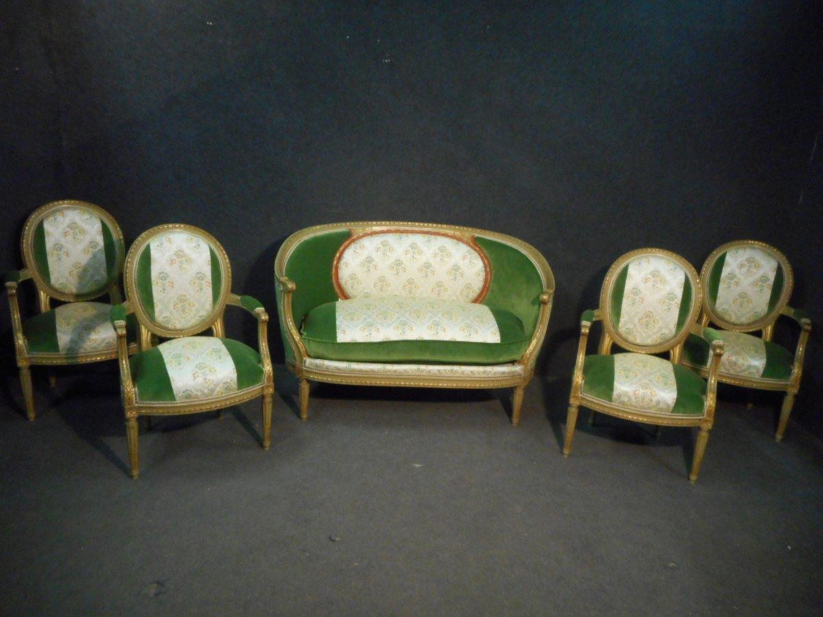 Mid 19th Century Living Room Set Stamped Maison Krieger Paris