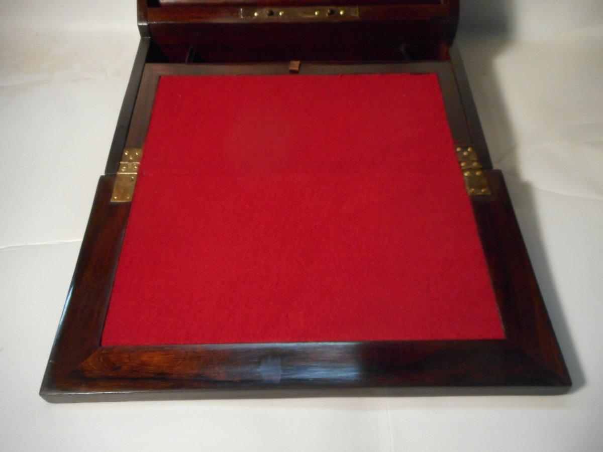 Napoleon III Period Marquetry Writing Case Signed Paul Sormani-photo-4