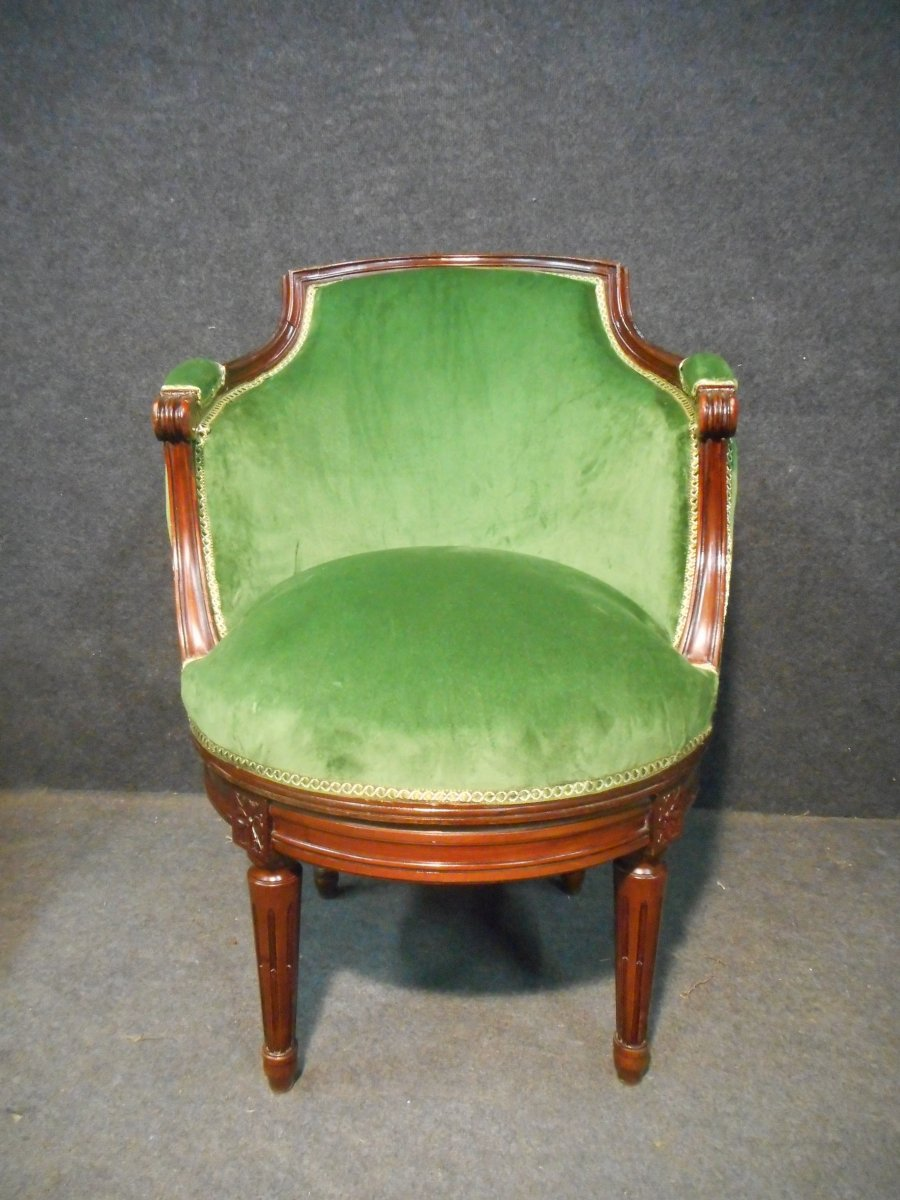 Krieger Paris Stamped Mahogany Office Chair