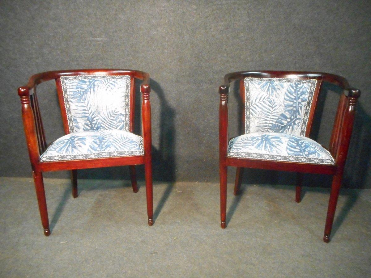 Mahogany Art Deco Period Living Room Set-photo-3