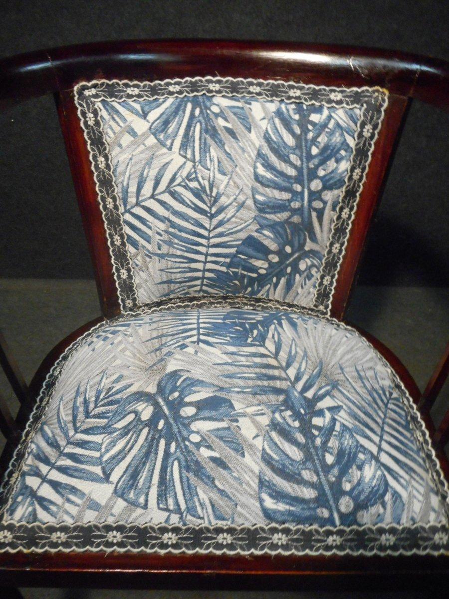 Mahogany Art Deco Period Living Room Set-photo-4