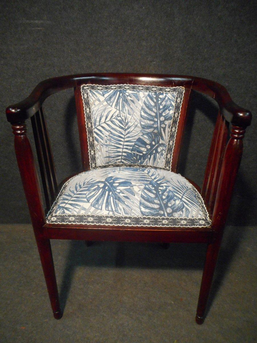 Mahogany Art Deco Period Living Room Set-photo-1