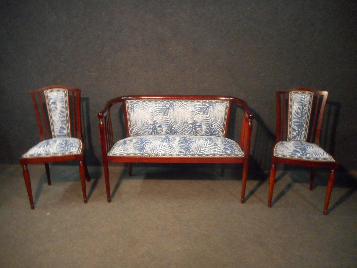 Mahogany Art Deco Period Living Room Set-photo-2