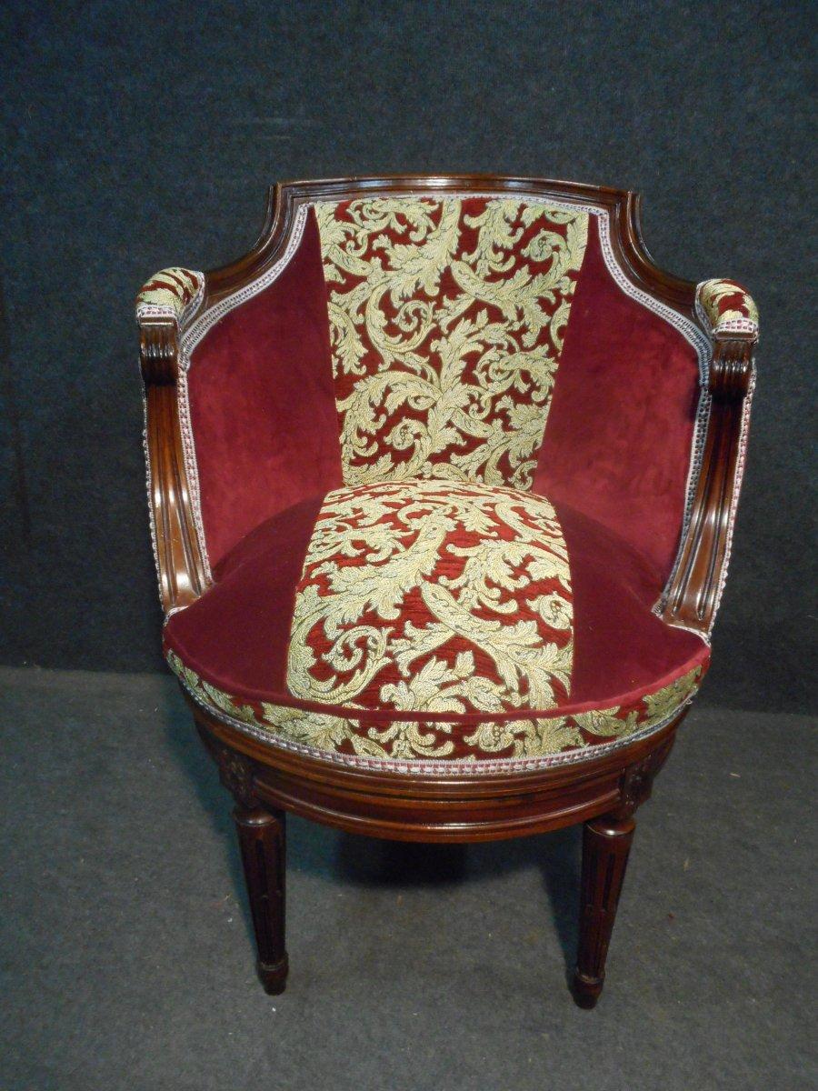 Nineteenth Century Mahogany Office Armchair