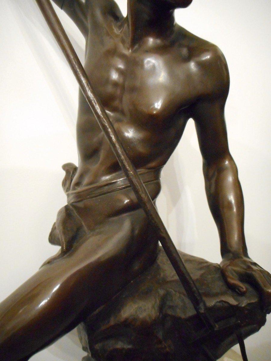Bronze Sculpture The Sinner Of Conger Signed Ernest Justin Ferrand (1846-1932)-photo-3