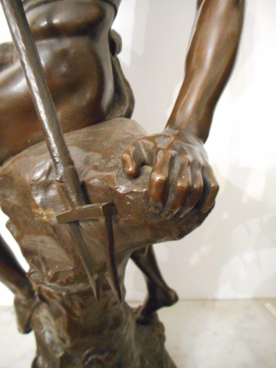 Bronze Sculpture The Sinner Of Conger Signed Ernest Justin Ferrand (1846-1932)-photo-2