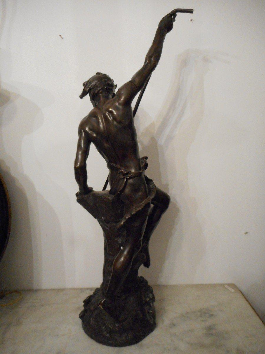 Bronze Sculpture The Sinner Of Conger Signed Ernest Justin Ferrand (1846-1932)-photo-5