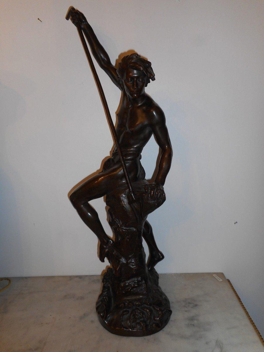 Bronze Sculpture The Sinner Of Conger Signed Ernest Justin Ferrand (1846-1932)
