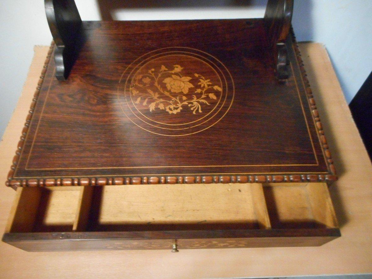 Coiffeuse De Table En Palissandre époque Début XIXe Estampillé -photo-4