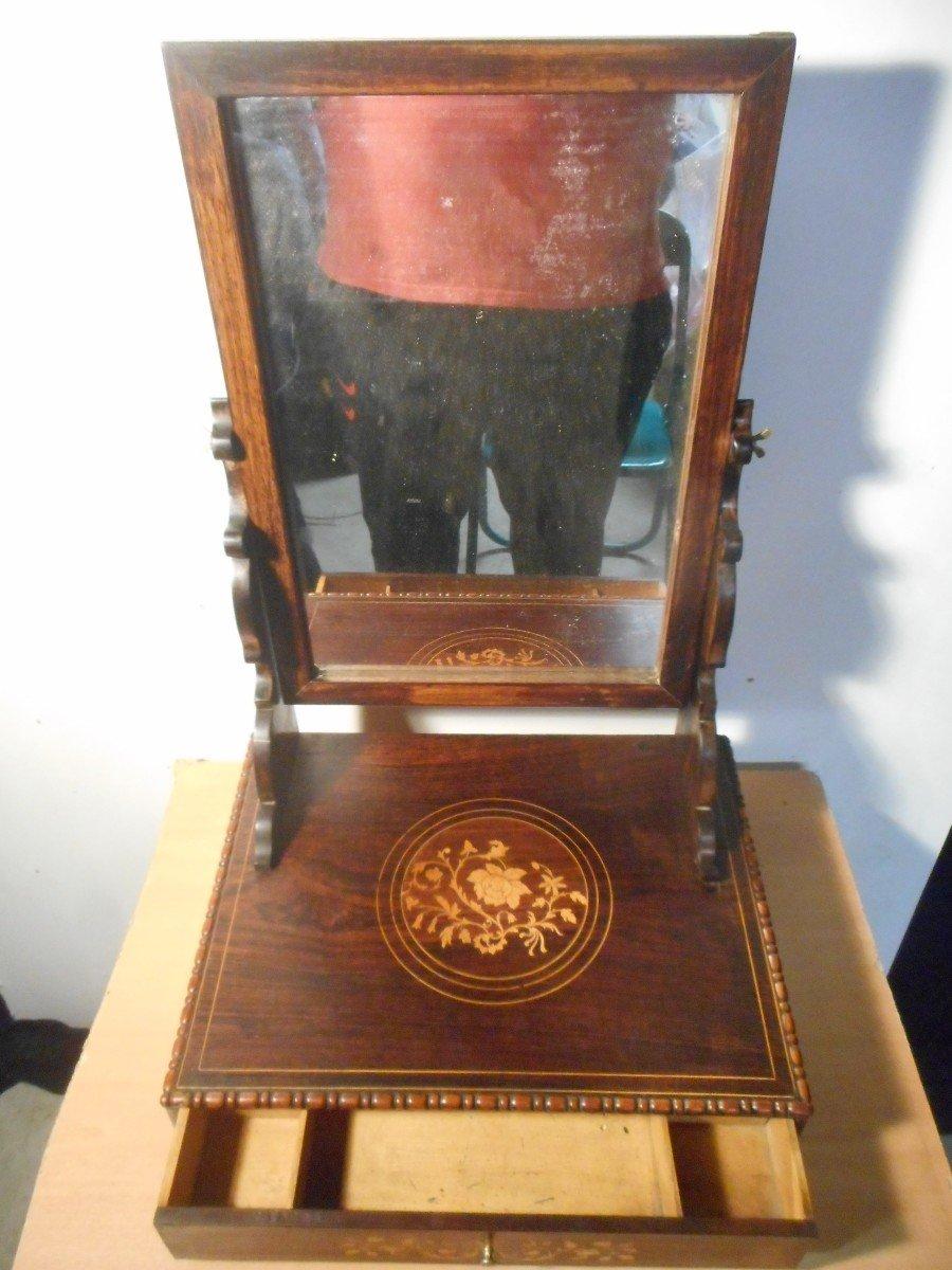 Coiffeuse De Table En Palissandre époque Début XIXe Estampillé -photo-1