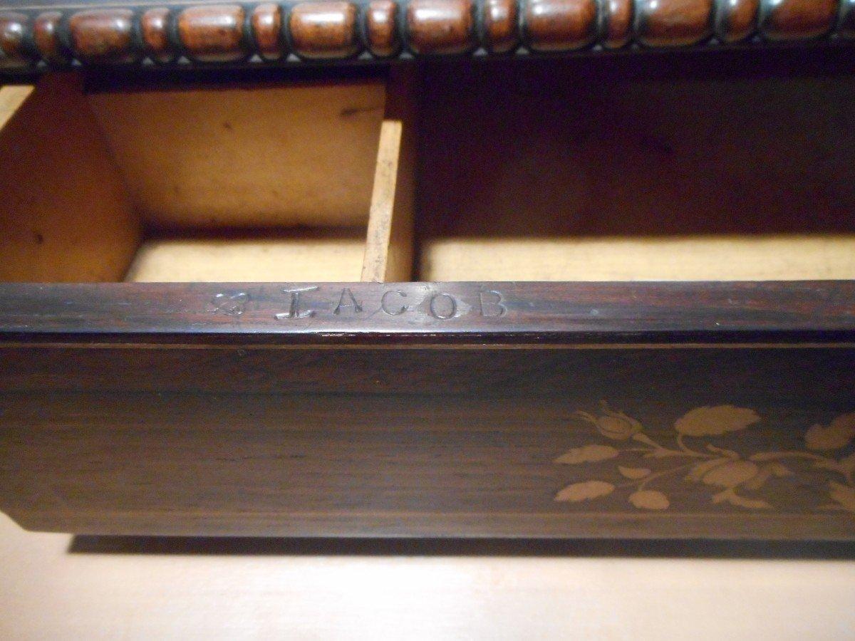 Coiffeuse De Table En Palissandre époque Début XIXe Estampillé -photo-2