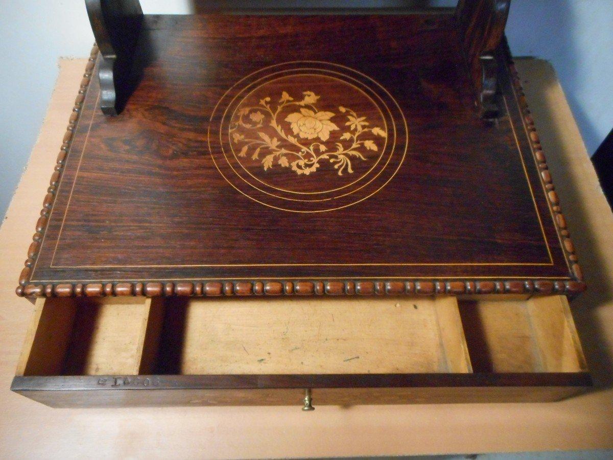 Coiffeuse De Table En Palissandre époque Début XIXe Estampillé -photo-6