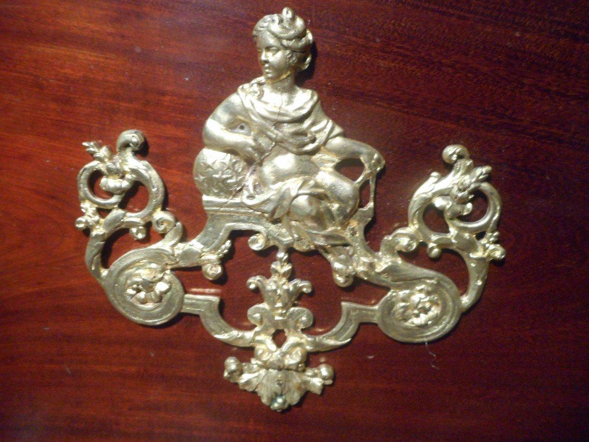 Commode Secrétaire époque Empire En Acajou de Cuba Et Bronze Doré-photo-4
