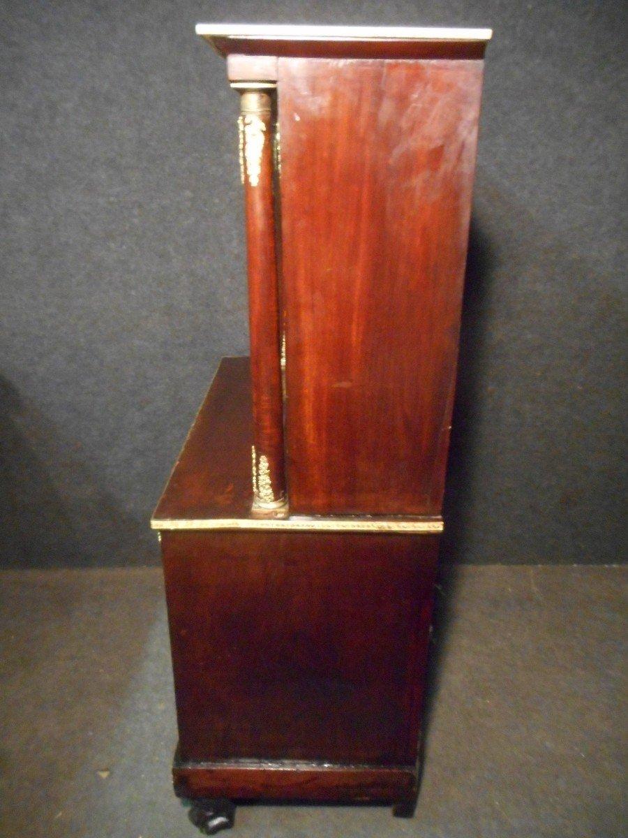 Commode Secrétaire époque Empire En Acajou de Cuba Et Bronze Doré-photo-5