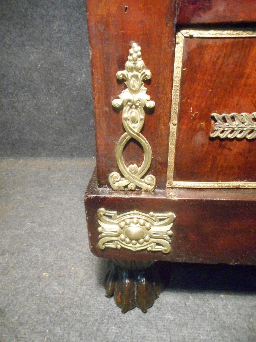 Commode Secrétaire époque Empire En Acajou de Cuba Et Bronze Doré-photo-6