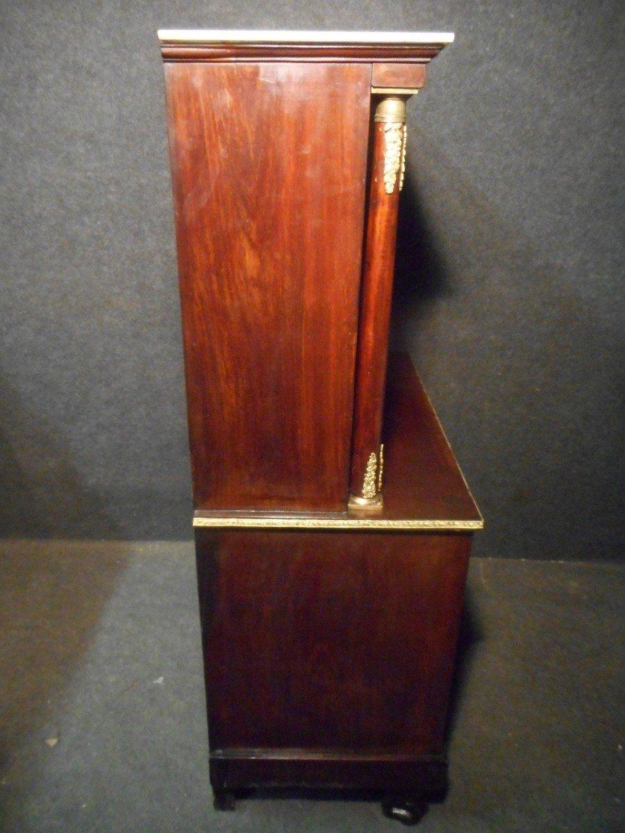 Commode Secrétaire époque Empire En Acajou de Cuba Et Bronze Doré-photo-8